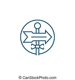 Business direction linear icon concept. Business direction line vector sign, symbol, illustration.