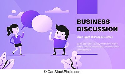 business, discussion.