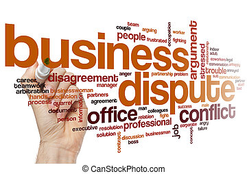 Business dispute word cloud