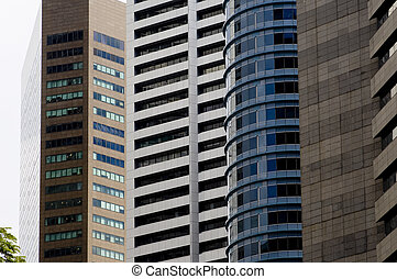 Different commercial buildings in Singapore