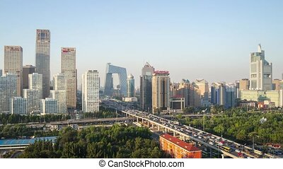Business district in Beijing - Timelapse of Business...