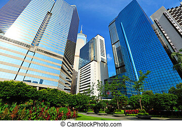 Business district in Hong Kong