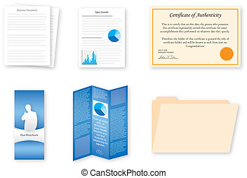 Business Document Icons - A set of 6 business document...