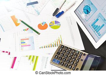Business documents on desktop