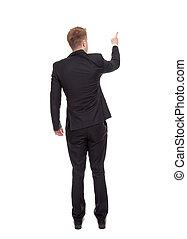 business, doigt indique, homme