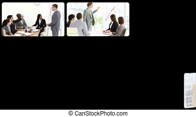 Business doing presentations - Animation of business doing...
