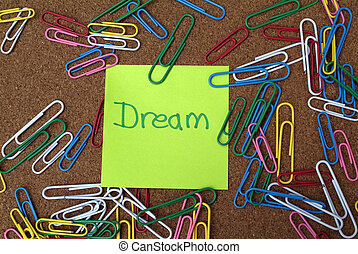 Business dream and vision concept - Business vision concept:...