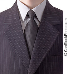 Business dress - Business man in black striped suit
