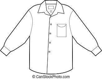 Business Dress Shirt - Business dress shirt isolated on a...