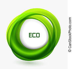 Business ecology swirl concept