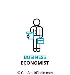 Business economist concept , outline icon, linear sign, thin line pictogram, logo, flat vector, illustration