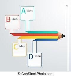 Business education pencil infographics option