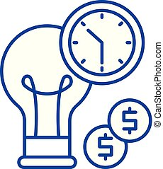 Business efficiency line icon concept. Business efficiency flat vector symbol, sign, outline illustration.