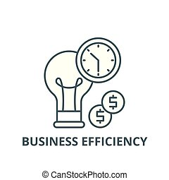 Business efficiency line icon, vector. Business efficiency outline sign, concept symbol, flat illustration