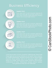 Business Efficiency Poster Vector Illustration