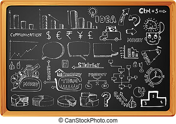 Business Element - illustration of set of hand drawn ...