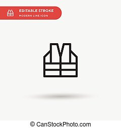 business, element., parfait, icônes, gilet, toile, symbole, ui, conception, stroke., simple, projet, editable, moderne, mobile, vecteur, pictogramme, illustration, gabarit, ton, couleur, icon.