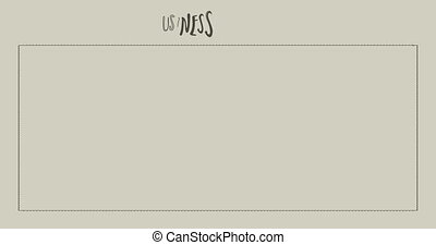 Business elements doodle appearing animation on pale green background