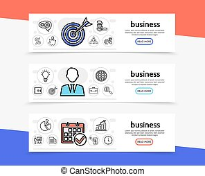 Business Elements Horizontal Banners