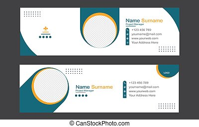 Business Email Signature Template Design.