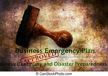 Business emergency plan - approved grunge concept