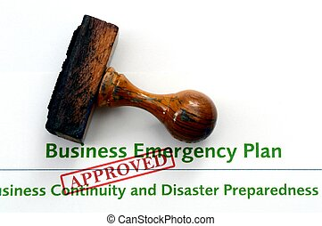 Business emergency plan - approved
