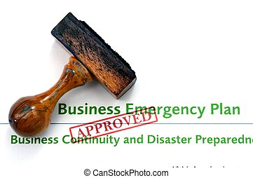 Business emergency plan