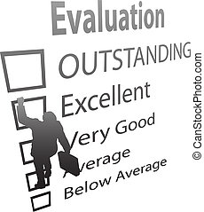 Business Employee Climbs Up Evaluation Improvement Form - A ...
