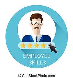 Business Employee Skills Evaluation Icon