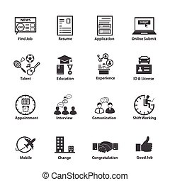 Business Employment Icons Set