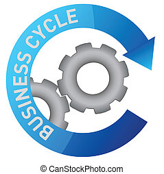 business, engrenage, illustration, cycle
