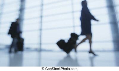 business, entiers, concept, fenêtre., air, marche, lent, ...