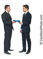 business, entre, deux, contrat, gens