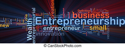 Business entrepreneurship background concept glowing