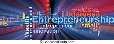 Background concept illustration of business entrepreneurship entrepreneur glowing light
