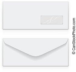 business, envelopper, vecteur, vide, blanc, template.