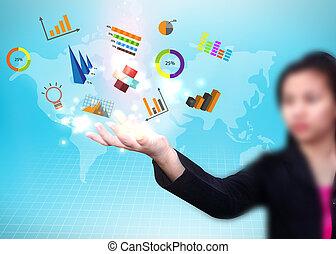 business eny, majetek, společenský, střední jakost, ikona