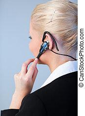 business eny, pouití, jeden, sluchátka