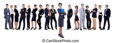 business eny, student, vůdčí, jeden, mužstvo