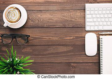 business, espace, sommet, bureau, vide, copie, vue