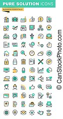 Business essential thin line icons - Modern thin line icons...