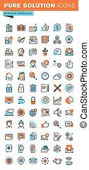 Business essentials icons set