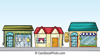 Business establishments - Illustration of the business...