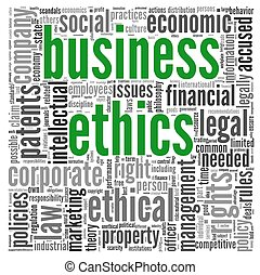 Business ethics concept in tag cloud - Business ethics...