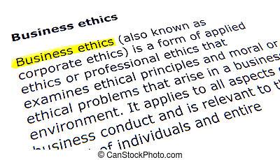 Business ethics