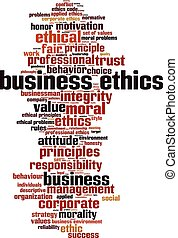 Business ethics-vertical - Business ethics word cloud ...
