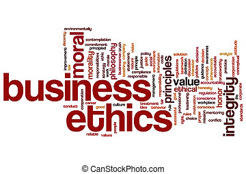 Business ethics word cloud