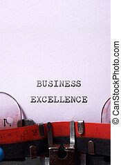 Business excellence concept