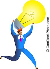 running with an idea - business executive running with an ...