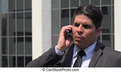 Business Executive Talking On Cell Phone